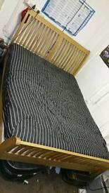 Oak king size bed