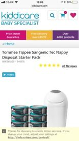 Tommee tippee sangenic with 5 refills