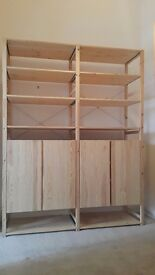 IVAR Ikea open storage modular system in perfect condition with 2 cabinets.