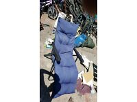 Foldable adjustable garden deck chair