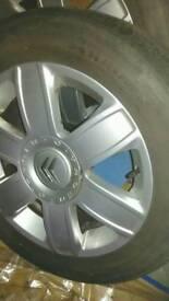 Citroen alloy wheels and tyres x2