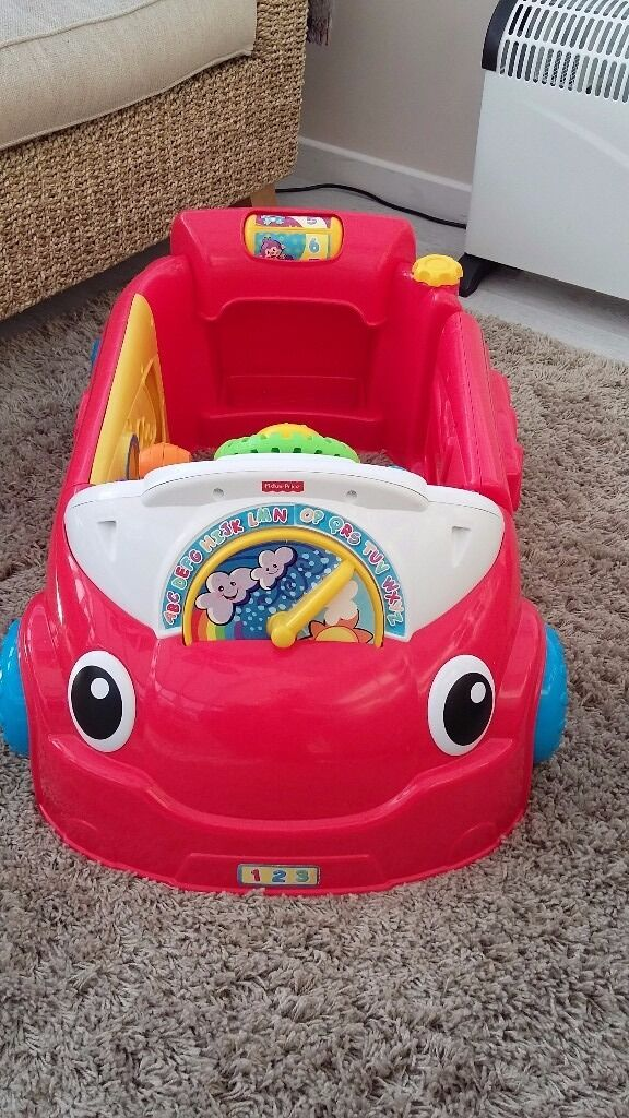 FISHER PRICE TOY CAR LAUGH N LEARN SIT IN CAR