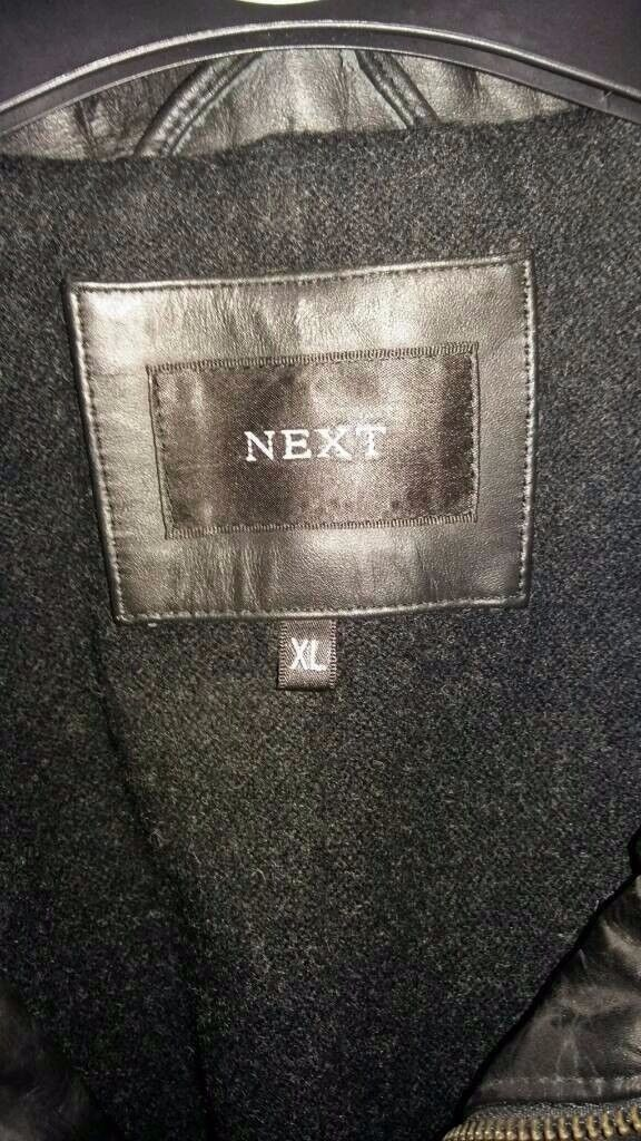 Mens 3/4 Length Leather Coat from Next Size XL
