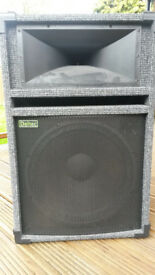 Deltec SX5 PA Speakers (pair) with stands