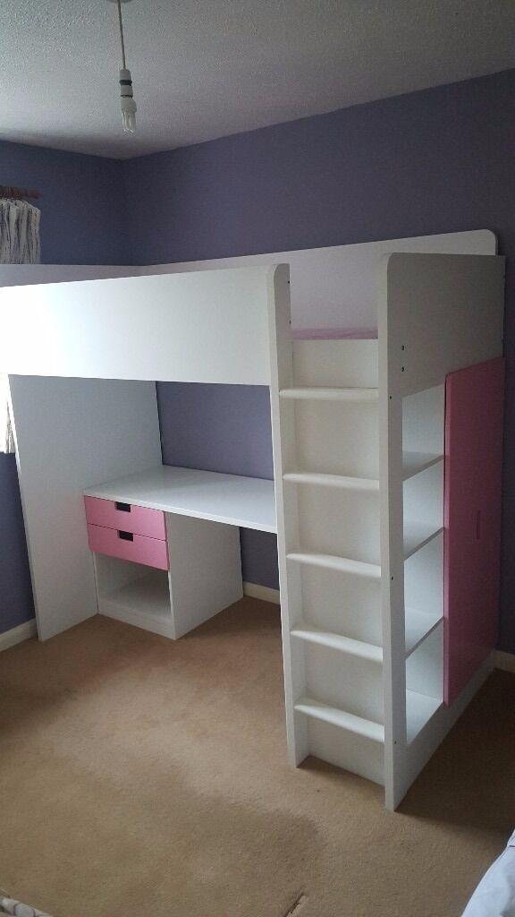Ikea Stuva Loft Bed With 2 Drawers 3 Shelves 2 Wardrobe