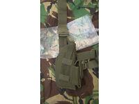 Brand New - Olive Green - Artkis Military Pistol Drop Leg Holster