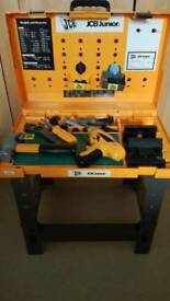 Child's toy tool bench and play tools