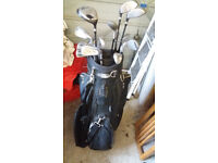 Full set of Williams clubs plus bag and around 50 golf balls -