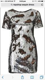 Top shop size 12 sequins dress