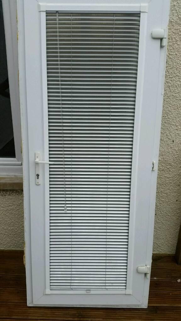Upvc Door Double Glazed With Integrated Venetian Blind