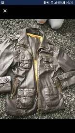 Superdry mens XL leather jacket