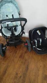 Quinny moodd travel system and maxi cosi pebble carseat