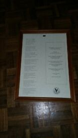 Framed Gleneagles Commemorative Address to a Haggis