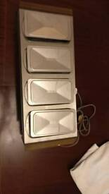 Buffet electrical food warmer with 4 trays