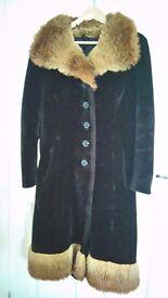 ladies faux fur coat condition used