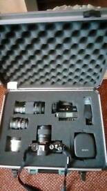 Sony 36.4MP full frame e-mount camera and a load of accessories