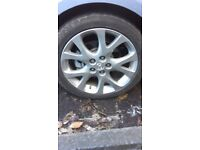 Mazda 6 Sports spare wheel with tyre - tyre size 225/45 R18