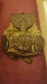 Bnwt girls furry backpack