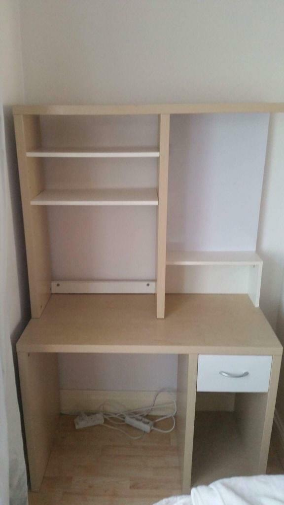 Ikea Desk With Storage And Magnetic White Board