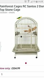 SANTOS 11 SANTOS 2 DOME TOP PARROT CAGE MED/LG PARROTS FAB COND CAN POST
