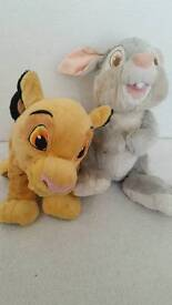 Disney soft toys - Thumper and Simba