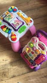 Leap frog music and learning table & vetch first steps baby walker