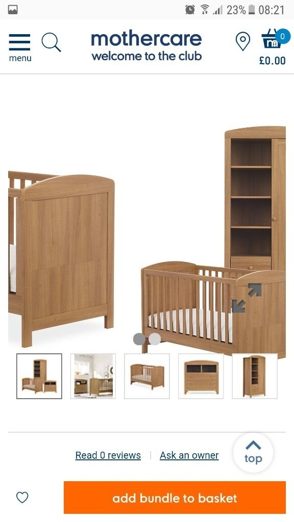 like new Oak nursery furniture inc wardrobe drawers and cot/bedin Larne, County AntrimGumtree - Nursery furniture including cot bed,wardrobe and drawers. Pictures from mothercare website. Excellent condition. Really good sturdy heavy furniture. £270 priced for quick sale. Ono