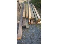 12x large timbers ideal for raised garden beds etc