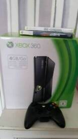 Xbox 360 two games & controller