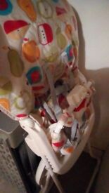 High chair great Condition. Need gone as no longer uses this and need space.