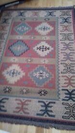 Aztec design rug and matching runner