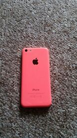 Selling pink iPhone 5c 8GB tesco network with various covers.