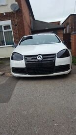 VW GOLF R32, 3.2 V6 4MOTION 4WD, WHITE, REMAPPED, 300 BHP STAGE 1, LOWERED, 90K FULL SERVICE HISTORY