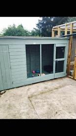 Dog/cat kennel & run