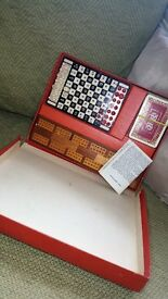 HOUSE MARTIN TRAVELLING CHESS & CRIBBAGE VINTAGE/RETRO