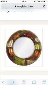 Reduced price by £30! Metal wall art patchwork mirror X2. Big, beautiful accent mirrors!