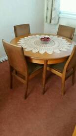 **REDUCED**Gplan retro 70s dining table & chairs **MUST GO**