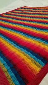 Rainbow crochet bobble blanket