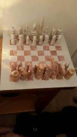 African Soap stone chess board game