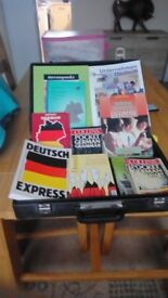 German learning books,phrase books,dictionarys assorted gcse/a & s level learning books