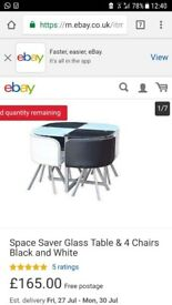 Space Saving Set Table and Chairs