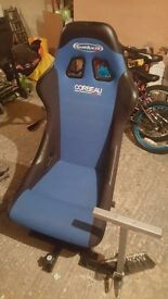 Raching chair and steering wheel for ps/xbox/pc