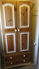 SINGLE STRONG SOLID PINE WARDROBE