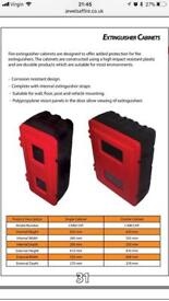 Fire extinguisher cabinets stands and plinths - lots available