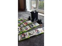 X box 360 with 2 controllers 21 games