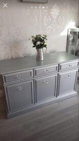 Stunning silver side board side cupboard
