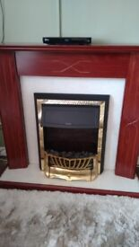 Mahogany Effect Fireplace and Electric Fire REDUCED-MUST GO