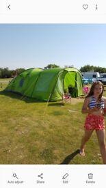 Voyager elite 6 tent. Footprint. Carpet. And porch