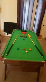 snooker table 6 x3 foot
