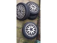 Alloy whells with tyres